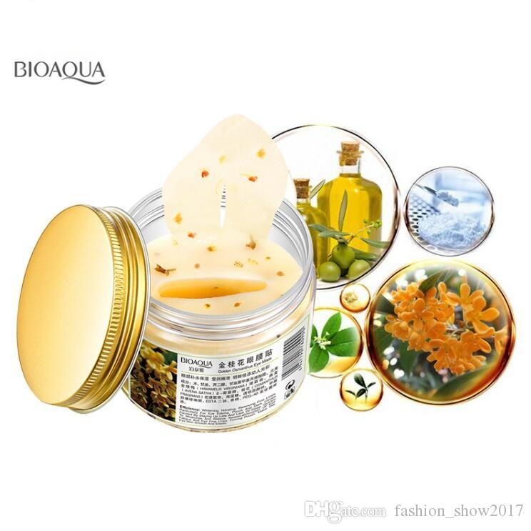 BIOAQUA Gold Osmanthus Eye Mask Collagen Gel Whey Protein Sleep Patches Remove Dark Circle Mousturizing Eye Mask