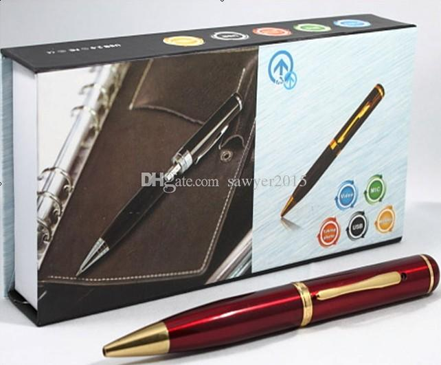 Mini pen camera DVR built-in 4GB 8GB 720*480 30fps pen pinhole camera Digital Video Recorder Pen mini DVR black & blue & red
