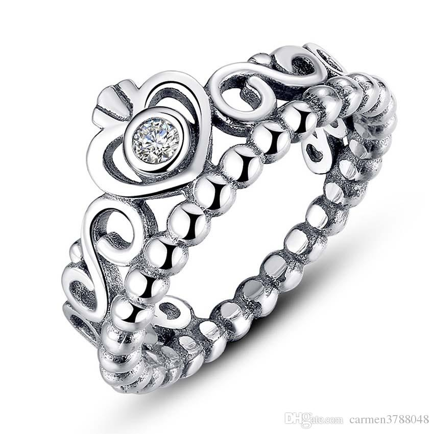 discount 100 s925 ring for valentines day princess crown sterling sliver rings with box from china dhgatecom