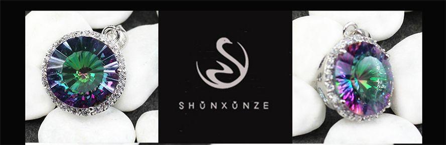 Shinning 브랜드 새로운 귀족 관대 MN736 좋아하는 레인보우 파이어 신비 큐빅 지르코니아 베스트셀러 구리 로듐 도금 추천 펜던트