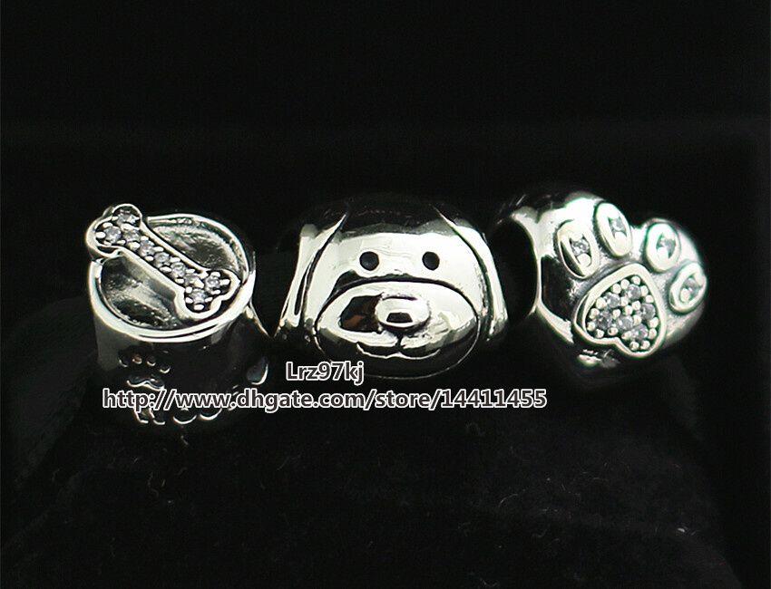 Аутентичные 925 стерлингового серебра подвески и муранского стекла бисера набор Шарм Box подходит Европейский Пандора ювелирные изделия Шарм браслеты CB203