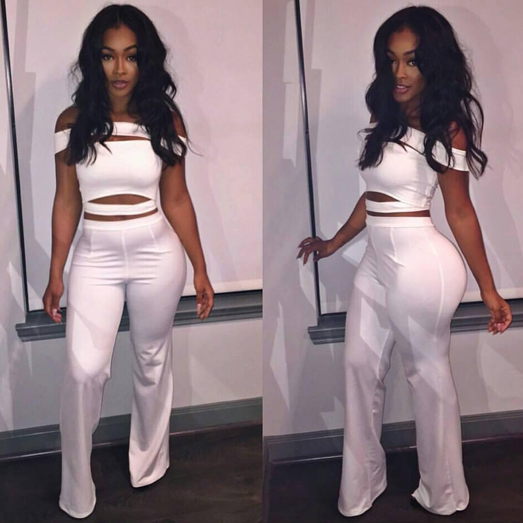 2019 2016 Rompers Womens Jumpsuit Two Pieces Outfits White