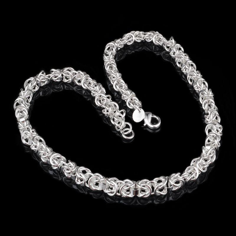 2018 Wholesale 2015 Silver Chain Men Women Fashion Design 925 ...