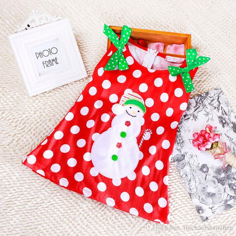 DHL 6 design Girls Christmas/Xmas Lace Dot Long sleeved Dress Costume Cotton princess Long sleeved T shirt Dresses baby Clothing B001