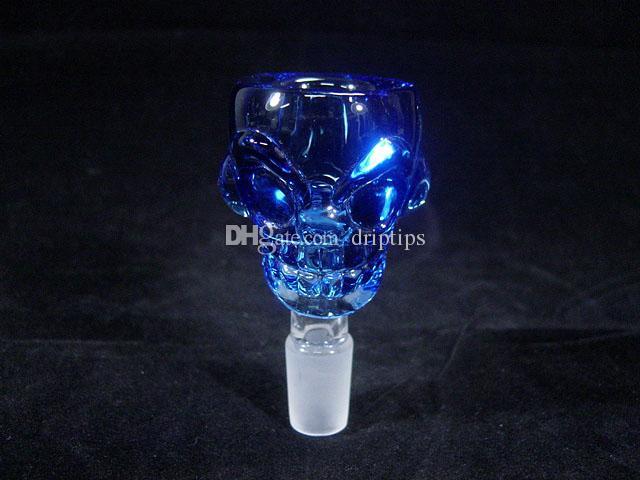 Skull design 14mm/18mm Glass Bowl Smoking pipe bong 7mm Thick For Mini Oil Rig Percolators Bubbler ash catcher