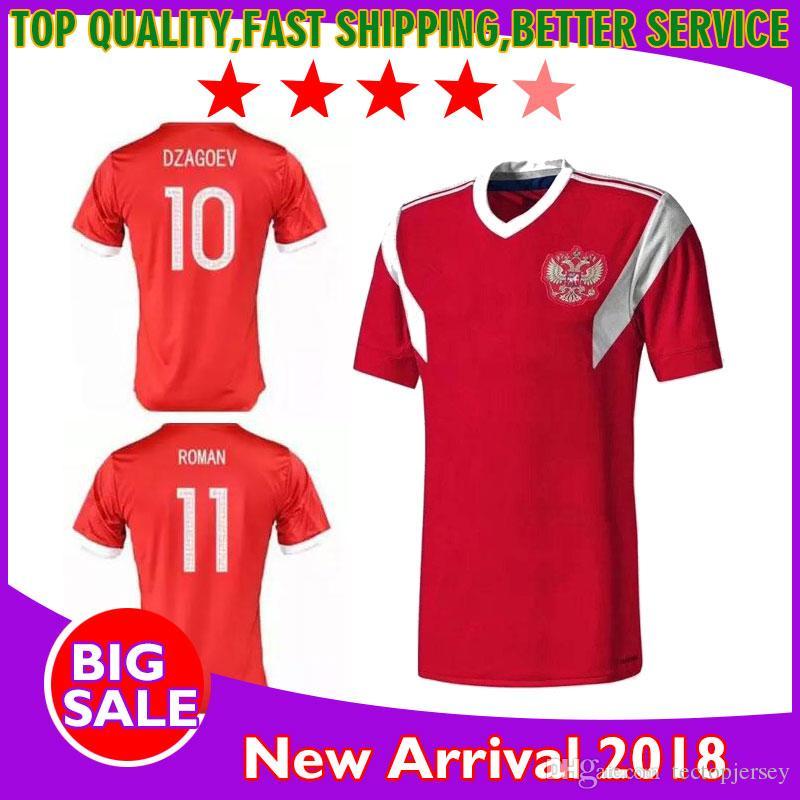 2018 new russia soccer jersey red home 2017 2018 arshavin kerzhakov yusupov dzagoev kombarov 22 dzyu