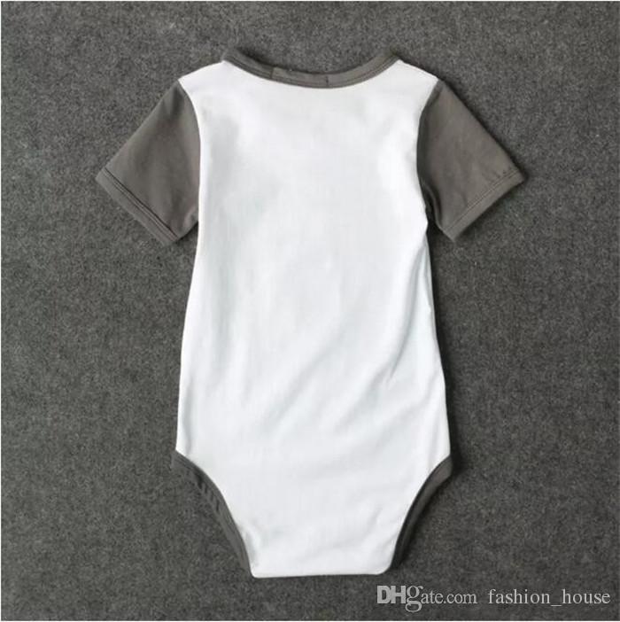 Bebé chico lindo cuello arco mameluco pequeño Sr. robar a su niña recién nacidos manga corta onesie ins letras calientes impresión de ropa de bebé A08
