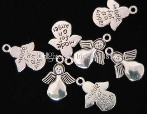 300 sztuk Moda Biżuteria Ustalenia, Akcesoria Charm Wisiorek, Stop Antique Silver 18 * 13mm