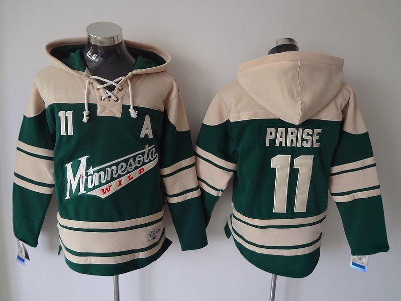 quality design f1cbd 8804f Top Quality ! Minnesota Wild Old Time Hockey Jerseys #11 Zach Parise Red  Green Hoodie Pullover Sweatshirts Winter Jacket