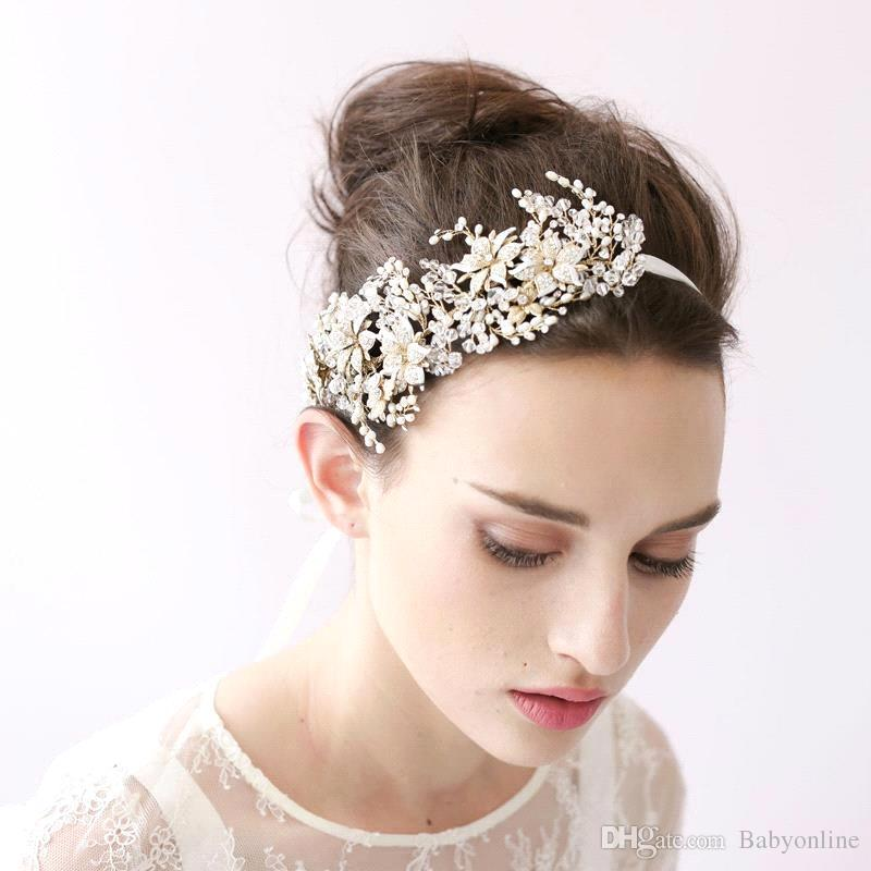 2018 Vintage Hair Band Head Pieces Pearls