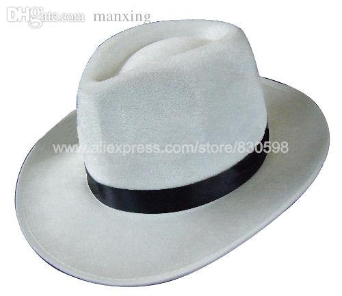 6443cde5f Wholesale-MJ Michael Jackson White Cap Smooth Criminal Hat