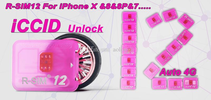 Newest RSIM12 unlock card for iPhone X ios11 rsim 12 rsim12 R-SIM12 unlocking iphone 8 8p 7 7P 6 6S IOS 11 10 9 8 7 4G CDMA SB AU SPRINT