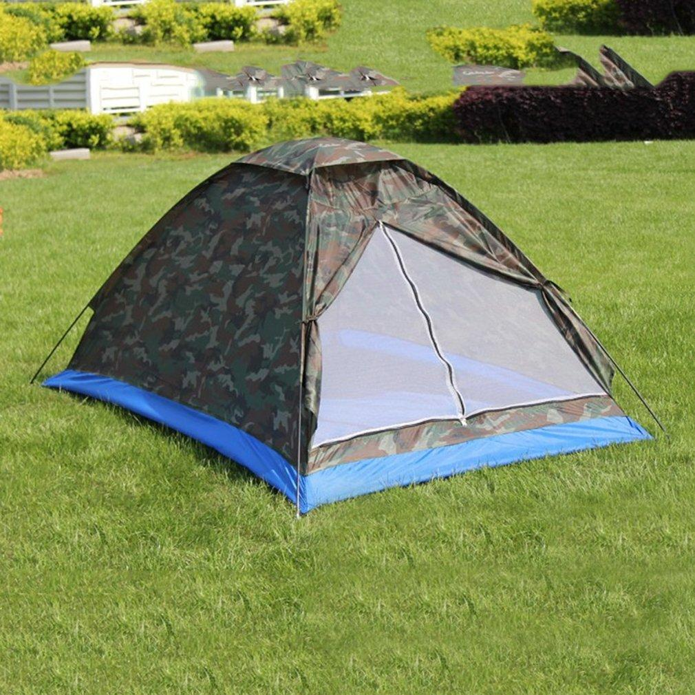 Wholesale- Single Layer 2 People Waterproof Camouflage C&ing Hiking Tent Lightweight Outdoor Beach Travel Picnic Fishing Tent Hiking Tents Lightweight ... & Wholesale- Single Layer 2 People Waterproof Camouflage Camping ...