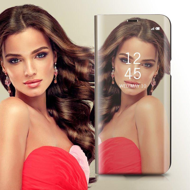 N975F Smart Case Mirror Pour Samsung Galaxy Note 10 Case Clear View Housse de support pour Galaxy Note 10 Plus Flip Case Note10 +