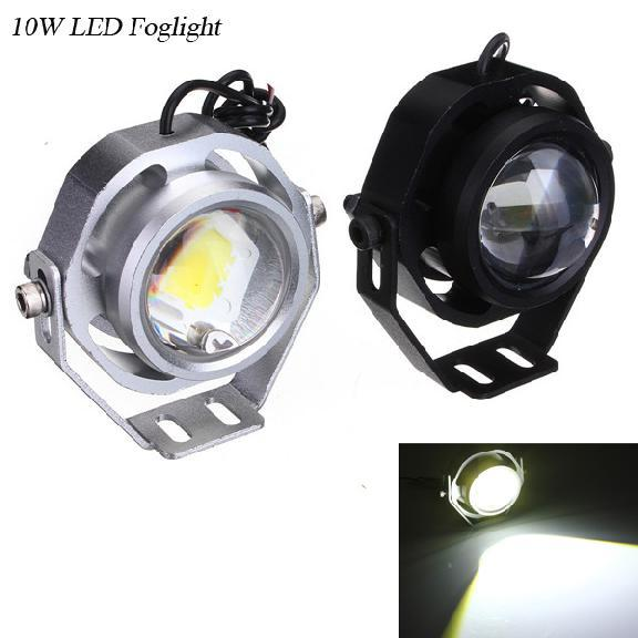 10w led spotlight car truck motorcycle auxiliary headlight 12v diy eagle eye fog lamp daytime. Black Bedroom Furniture Sets. Home Design Ideas