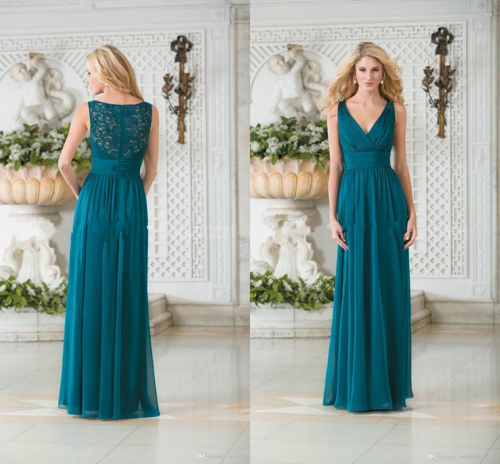 Plus size teal bridesmaid dresses good dresses 2015 teal green chiffon plus size long bridesmaid dresses sexy lace hollow back maid of honor ombrellifo Images