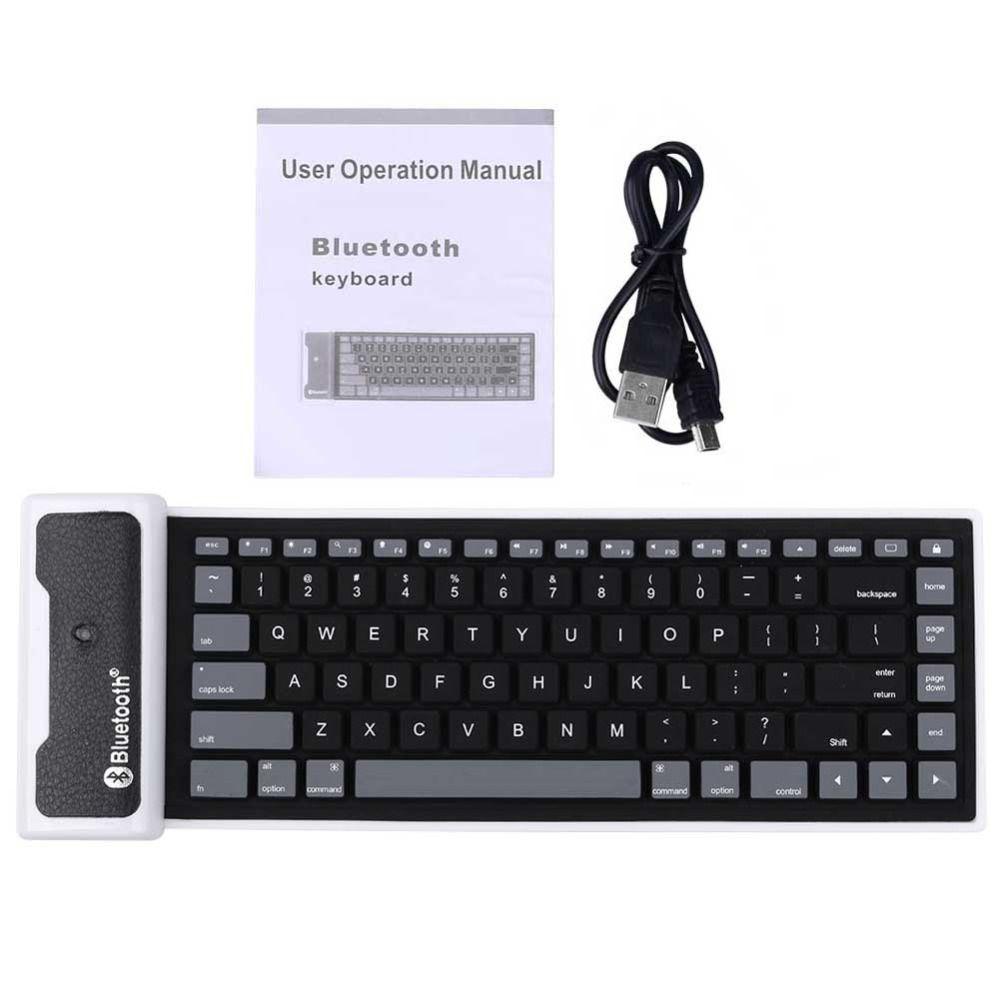 wholesale 85 keys bluetooth 3 0 keyboard waterproof foldable usb flexible silicone keyboards for. Black Bedroom Furniture Sets. Home Design Ideas