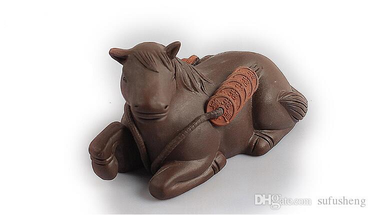 heißer Verkauf Yixing lila Grit interessantes Geld auf dem Pferd Tee Haustiere feine Verarbeitung grüner Tee Ornamente T331