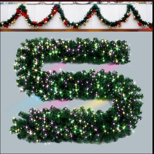 زينة عيد الميلاد زخرفة الفوانيس 2.7 متر قصب الروطان الروطان مول زينة عيد الميلاد ترتيب