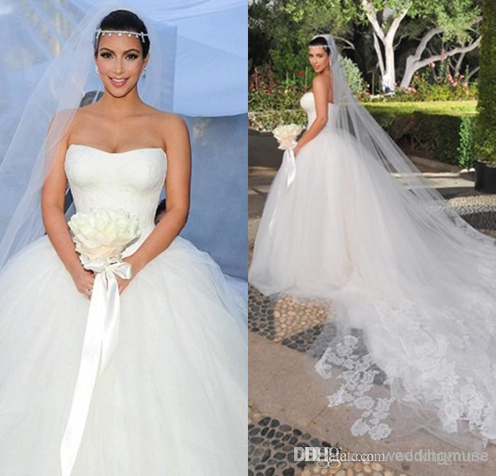 kim kardashian ball gown sweetheart lace corset lace up chapel train puffy tulle designer bridal gown 2016 chinese wedding dress dl1310634 gown dresses