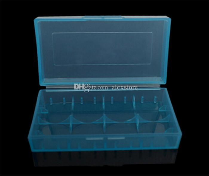 Taşınabilir Plastik Pil Kutusu Kutusu Güvenlik Tutucu Saklama Kabı 5 renkler paketi piller için 2 * 18650 veya 4 * 18350 lityum iyon pil e çiğ