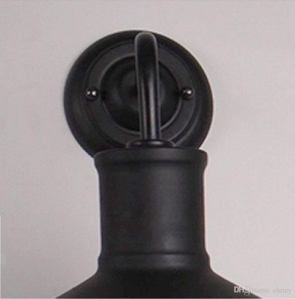 클래식 블랙 로프트 철 벽 조명 골동품 산업 미국 국가 벽 조명 레트로 홈 / 홀 / 야간 조명 장식 옆에