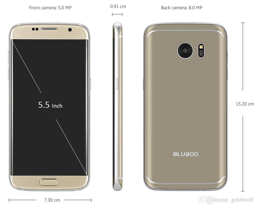 Original BLUBOO Edge 5,5 Zoll Handy 2 GB 16 GB Android 6.0 MTK6737 Quad Core Front Fingerabdruck 4G LTE Smartphone
