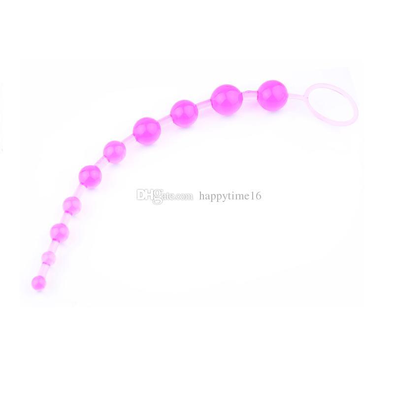 10 Perlen 13 Zoll Oriental Jelly Butt Plug Analkugeln für Anfänger Flexible Butt Beads Anal Massage Sexspielzeug für Männer und Frauen