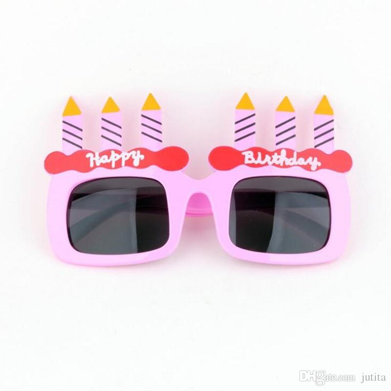 Funny Birthday Cake Candle Eye Glasses Children Boys Girls Party Sunglasses Favors Gift 30th Themes 40th