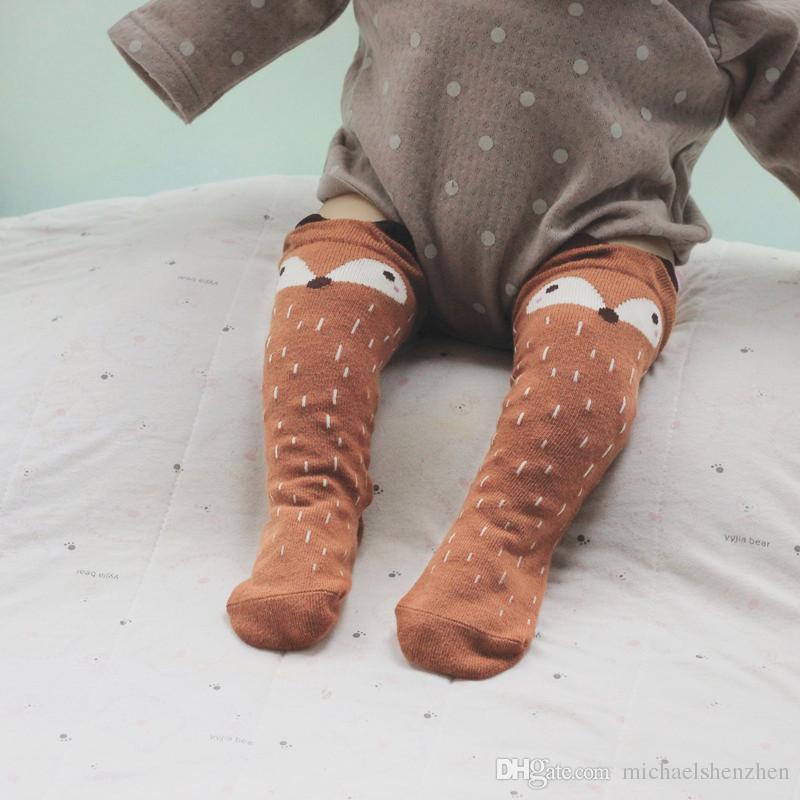 Çocuk karikatür Totoro tilki panda Uzun çorap 2015 YENI güzel çocuk Kız 35 cm karikatür çorap 6 renk B001