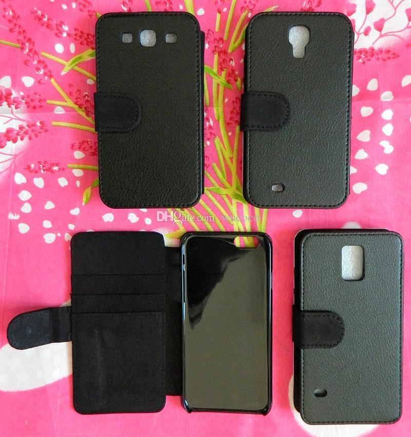 MIX Wholsale DIY Puste Press Heat Press Flip Leather Sublimation Case Dla Samsung Galaxy S3 S4 S5 iPhone 6 z gniazdami kart Darmowa wysyłka 500 sztuk / partia