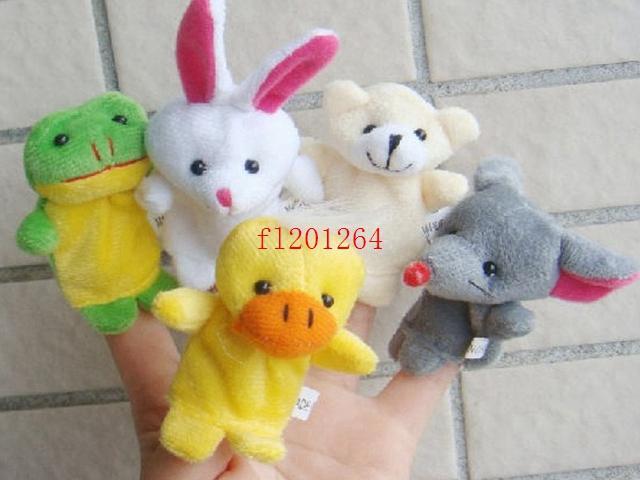 10 шт. / Лот бесплатная доставка мультфильм палец кукол палец игрушка пальца кукла животное кукла детские куклы для детской сказочной сказки пальцев игрушки марионетка