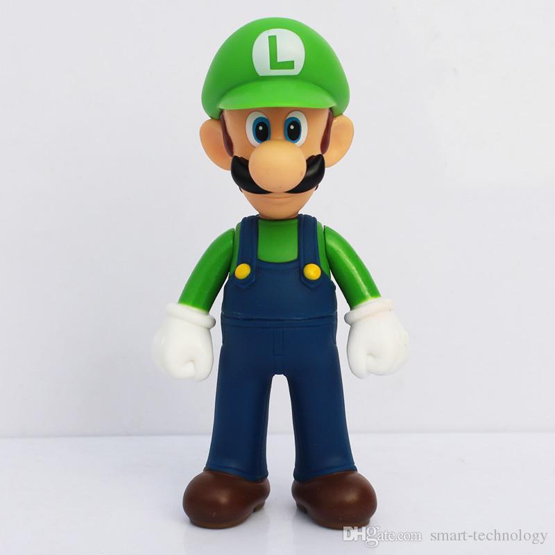 Super Mario Bros Luigi Mario Action Figures PVC Toys Plastic Doll Collection model children's Gifts