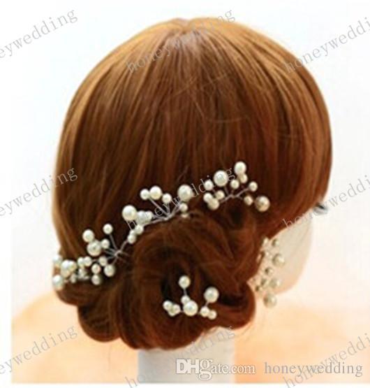 Boda nupcial accesorios para el cabello 3 unids dama de honor perla flor pernos de pelo horquilla de pelo joyería novia tocado
