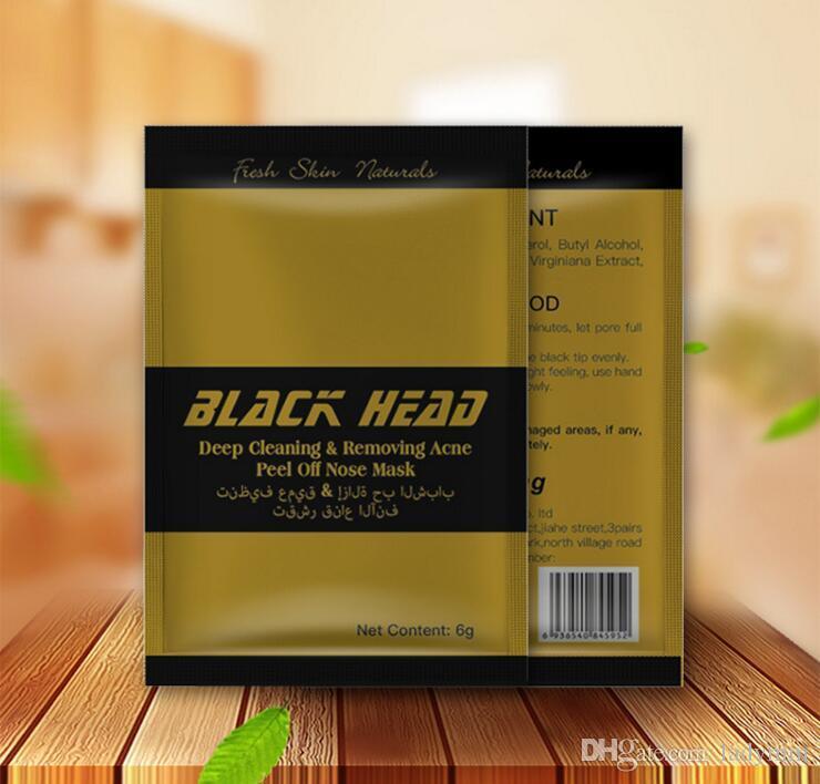 New Gold Facial Minéraux Conk Nez Comédons Nettoyage Profond Enlever L'acné Peel Off Nez masque Noir Tête EX Pores Bande Anglais emballage