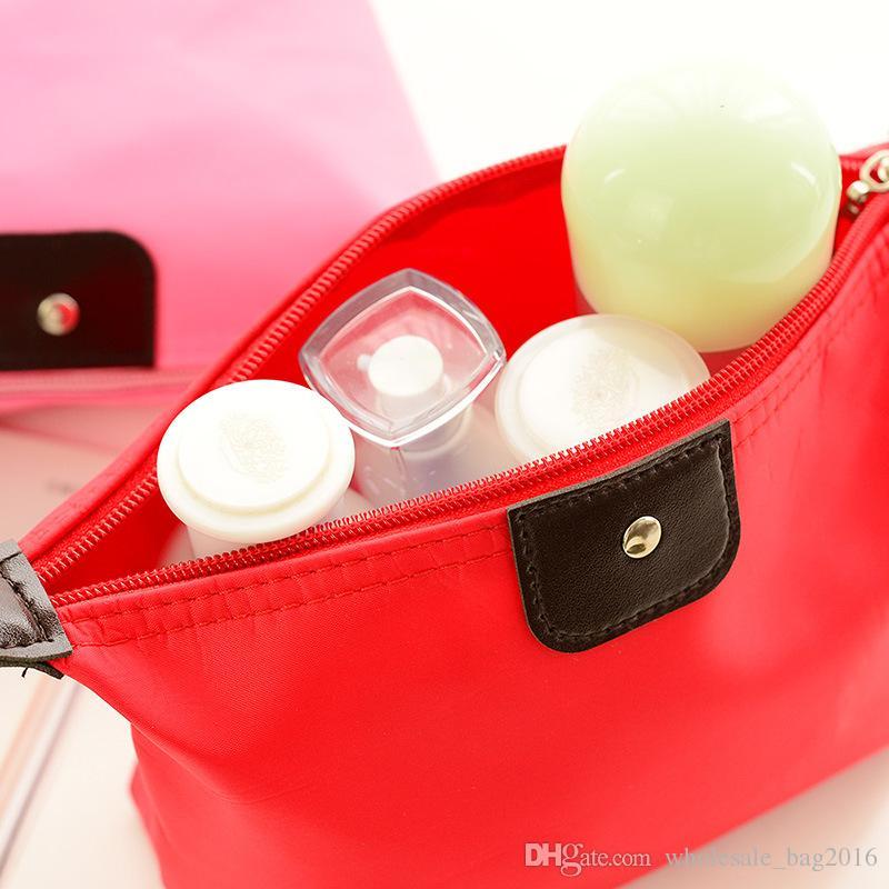 Sacos de cosméticos Para As Mulheres Bolsa De Maquiagem Sólida Compõem Saco de Embreagem Pendurado Produtos de Higiene Pessoal Kit de Viagem Titular Organizador de Jóias Casuais Bolsa cores