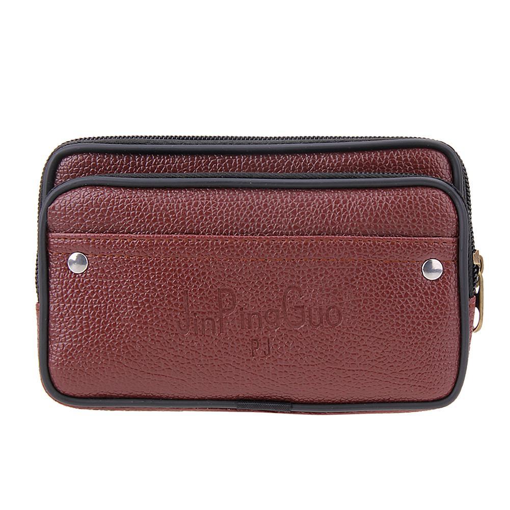 90c46c936f0c Wholesale 2017 New Double Zipper PU Leather Wallet Men Card Coin Phone  Holder Purse Men Clutch Short Wallets Casual Male Waist Bag Mens Front  Pocket Wallet ...