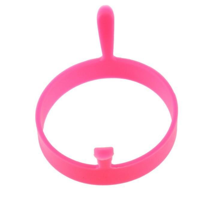 Silikonform Spiegelei Küche Ei Werkzeug Frier Ofen Wilderer Pfannkuchen Ring Formwerkzeug 6 Farben Mit griff Silikon Backformen Kuchenform 2018