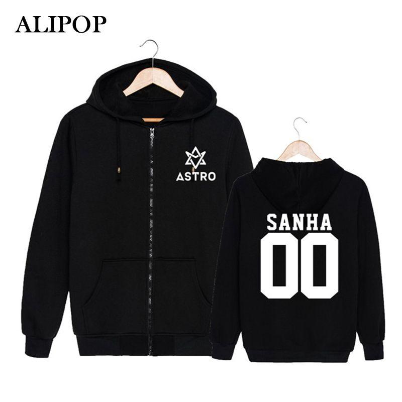ALIPOP KPOP Moda coreana ASTRO Spring Up 1st Mini Album 2nd Release Cotton Zipper Hoodies Ropa Zip-up Sudaderas PT184