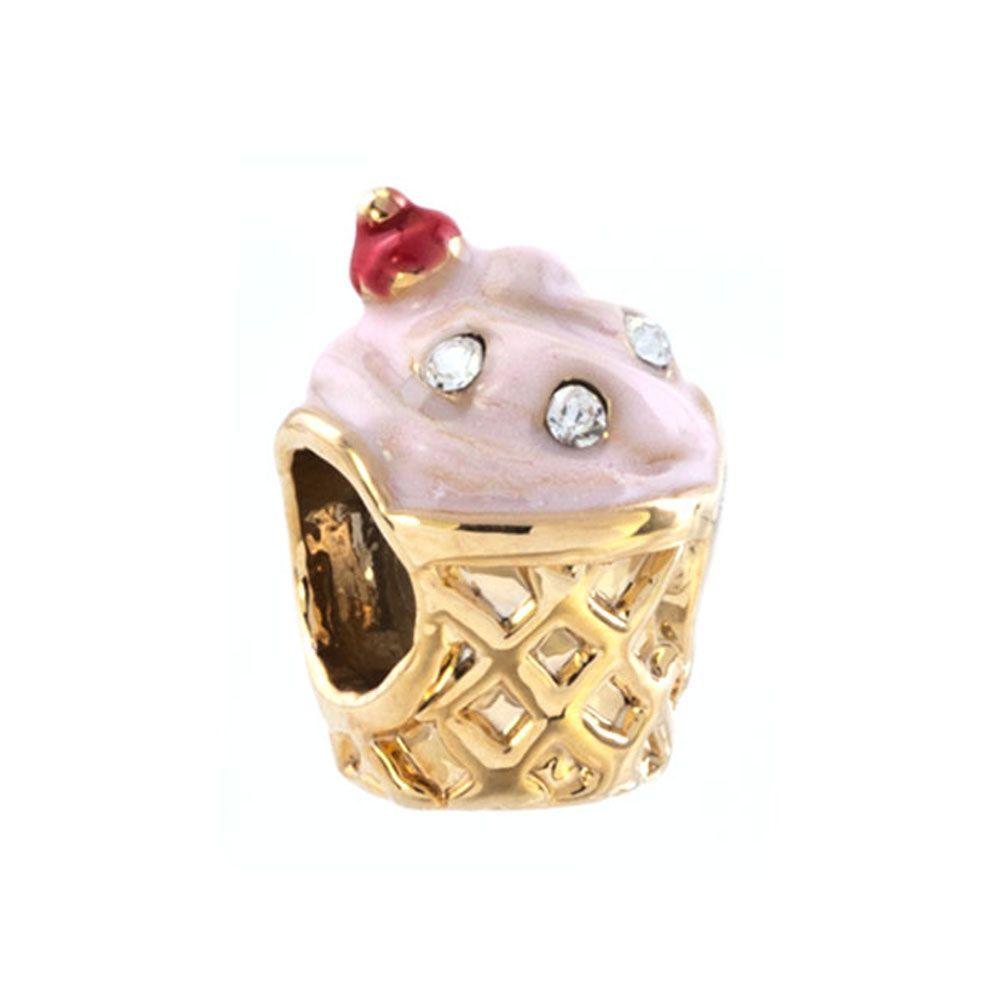 Fashion Women Jewelry DIY European Crystal Pink Ice Cream Children ... e34aa12bc9f7