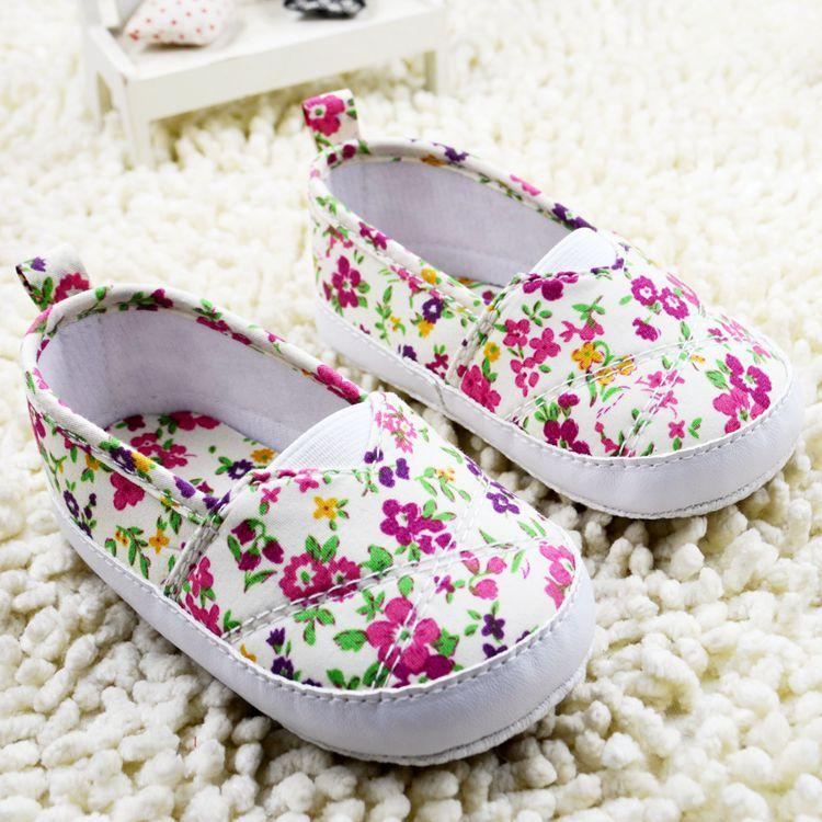 First Walker Shoes for baby girls 2015 new sweet printing infant casual shoe Pure and fresh style newborn leisure cloth shoes 0-1age ab1122