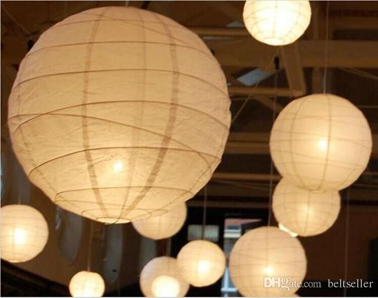 Decorazioni Con Lanterne Cinesi : Acquista new white lanterne di carta cinesi con luci a led