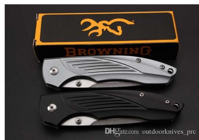 Browning - Aluminiumhandgriffqualitätsfaltenmesser 440C Stahl 58HRC faltendes Messergeschenkmesser Weihnachtsgeschenk