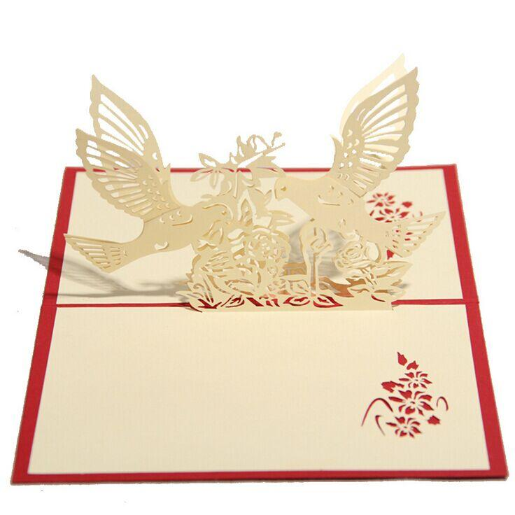 3d wedding birds and tree greeting cards handmade paper sculpture 3d wedding birds and tree greeting cards handmade paper sculpture creative romantic gift valentines day wedding invitations mail birthday cards mail m4hsunfo