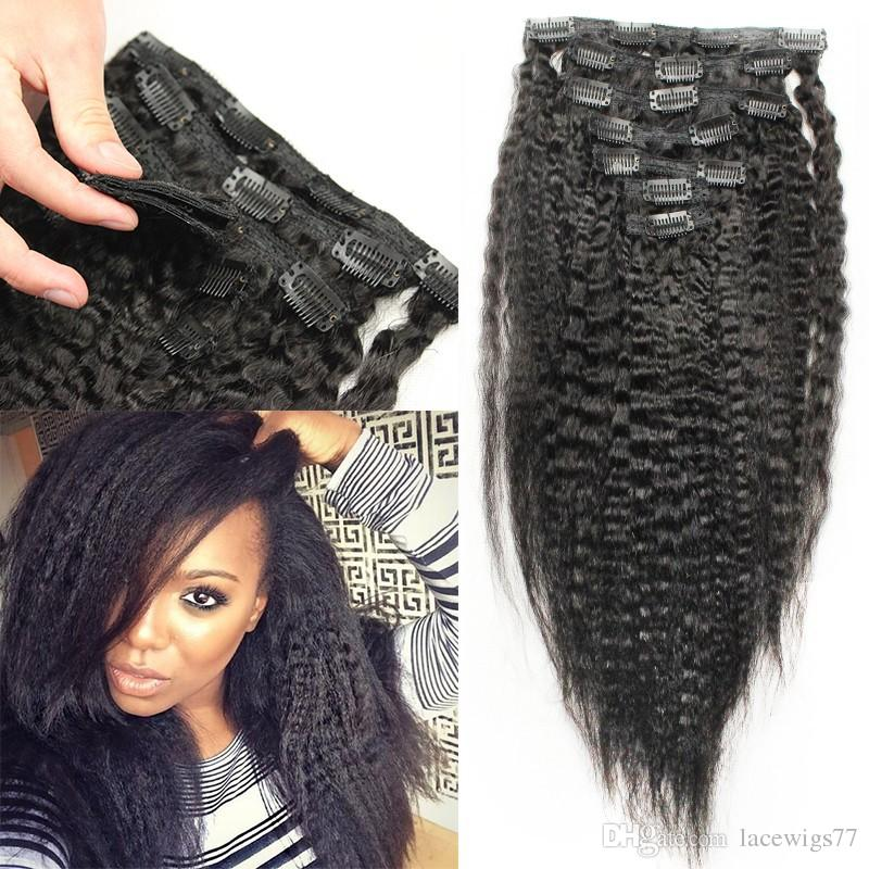 Clip in kinky straight human hair extensions italian coarse yaki clip in kinky straight human hair extensions italian coarse yaki 7a virgin brazilian clip in human remy hair weaves 8 24 in 70g hair extensions clips on pmusecretfo Image collections