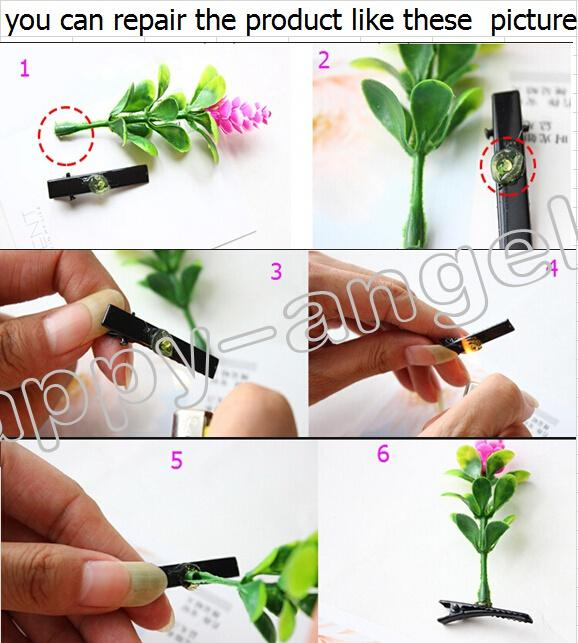 Newest Lovely Novelty Plants grass hair clips headwear Small bud antenna hairpins Lucky grass bean sprout mushroom party hair pin HD3401