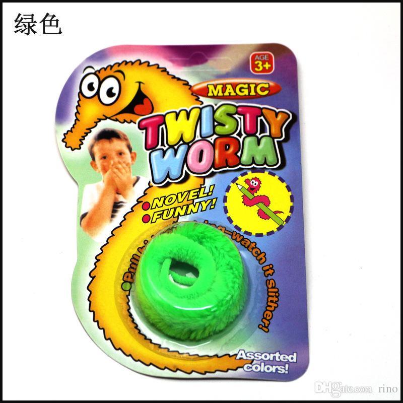 Magic Tricks Toys Peluche Mr.Fuzzy Magic Wiggle Wormle Twisty Worm Stuffed Animals Toy bambini