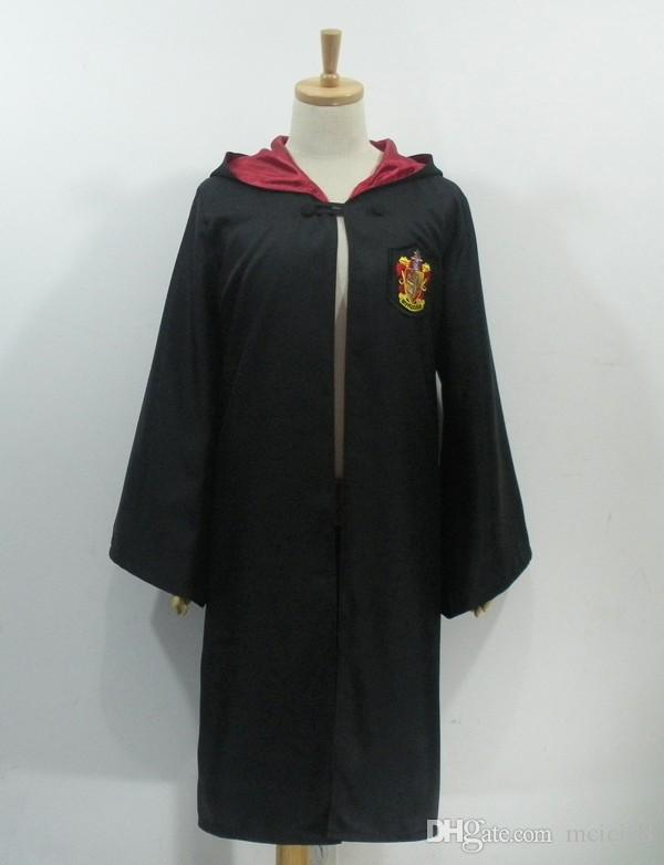 Free Shipping 4 styles Harri Potter Costume Adult and Kids Cloak Robe Cape Halloween Harry Potter Cloak Robe Harry Potter Cosplay Costume