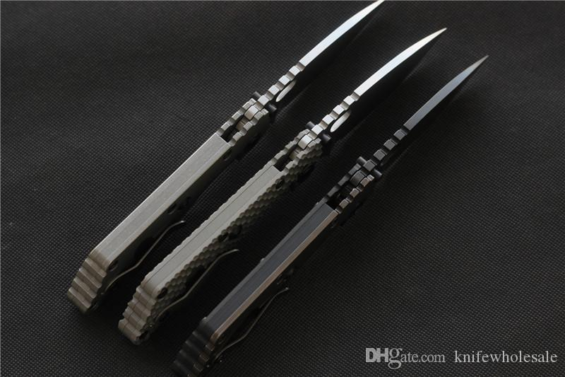 ST SMF carbon fiber Titanium handle D2 blade Copper washers Folding Knife hunting outdoor Tactical Knives EDC Tool