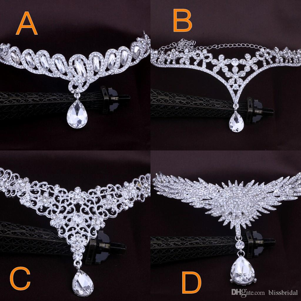 Online Cheap Bridal Hair Accessories Wedding Fashion For Women Of Metal Beaded Pearl Chain Head Jewelry Indian Ornaments Crown By